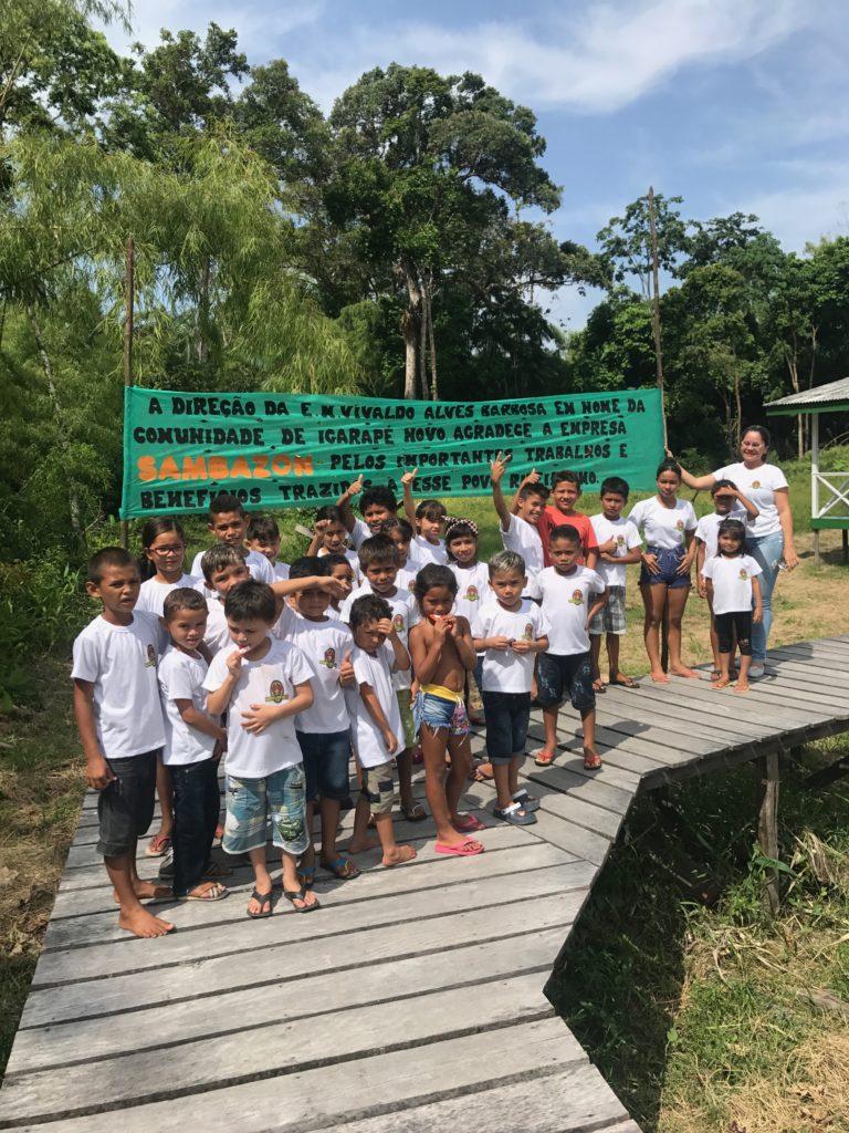 サンバゾンのCSR活動 – 小学校の建設